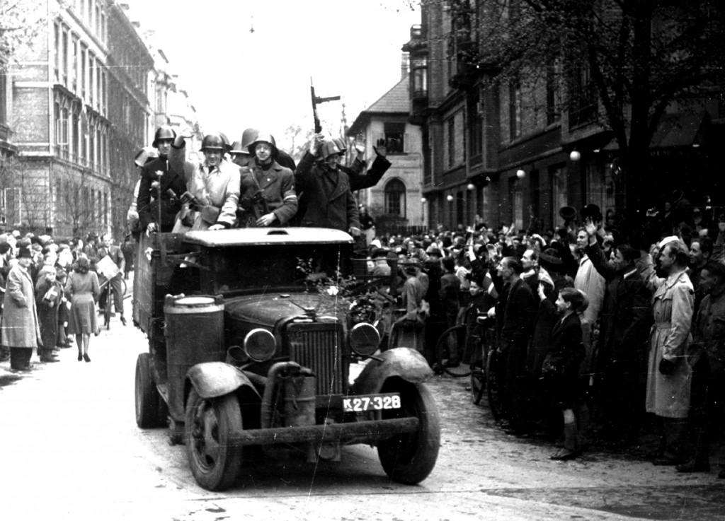 Modstandsmænd på Frederiksberg i befrielsesdagene